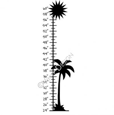 Palm Tree Growth Chart Vinyl Decal