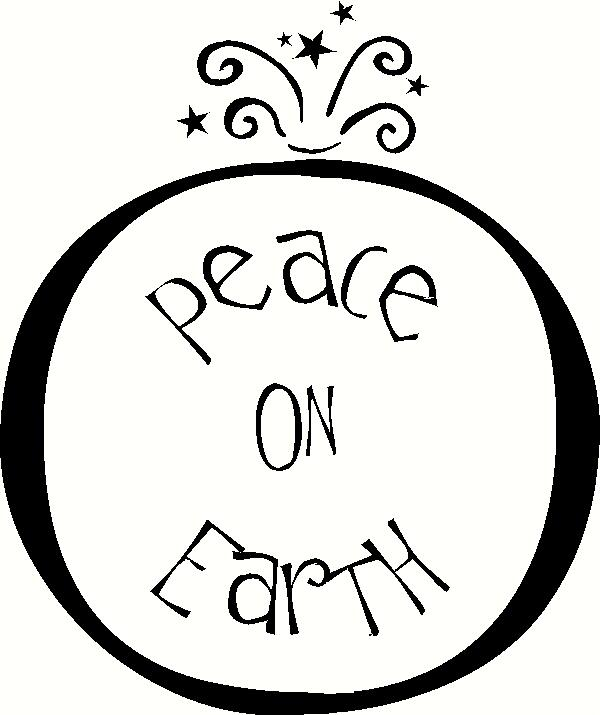 Peace on Earth (2) vinyl decal