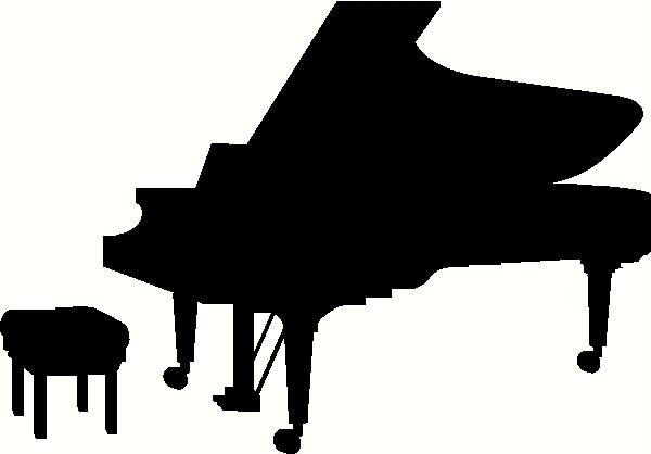 Playing Piano SilhouettePlaying Piano Silhouette