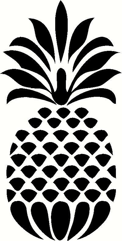 decorative pineapple wall sticker  vinyl decal