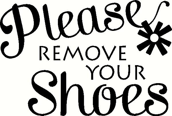 Please Remove Your Shoes Wall Sticker Vinyl Decal The