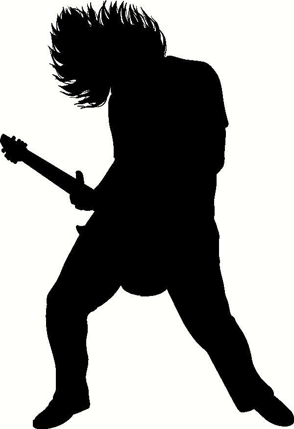 Rocker Silhouette wall sticker, vinyl decal | The Wall Works