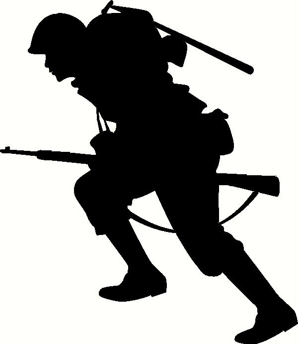 Running Soldier Wall Sticker Vinyl Decal The Wall Works