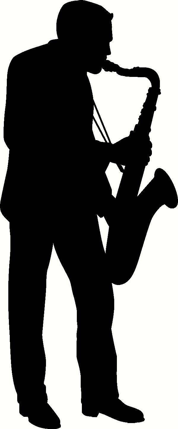 Saxophone Player Silhouette Wall Sticker Vinyl Decal