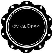 Scallop Edge vinyl decal