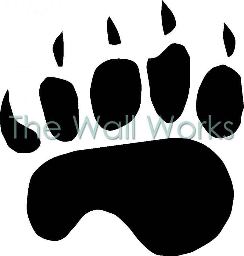 Bear Claw Drawings http://www.thewallworks.com/product-catalog/single-bear-claw-decal