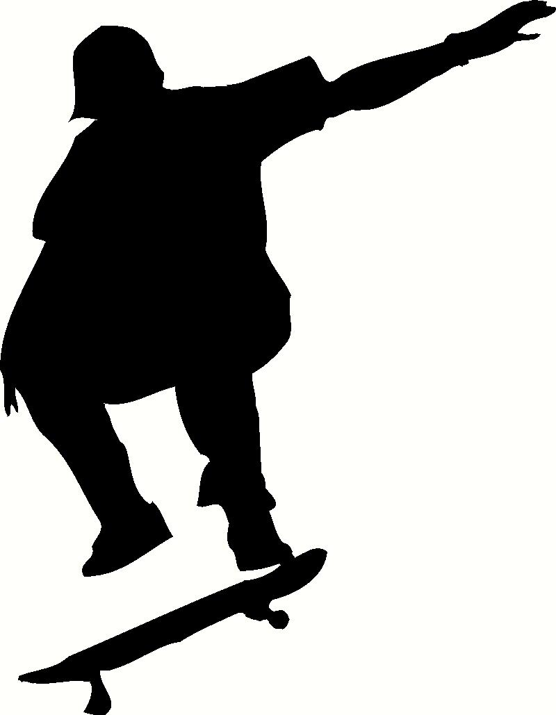 Skateboarder Ollie wall sticker, vinyl decal