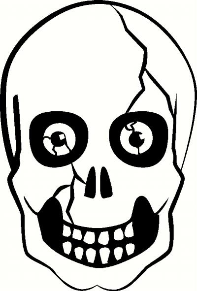 Skull with Eyeballs vinyl decal