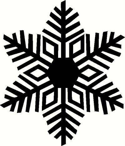 Snowflake 1 vinyl decal