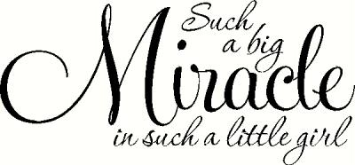 Such a Big Miracle is Such a Little Girl vinyl decal