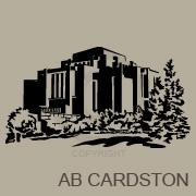 Alberta Cardston Temple vinyl decal