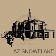Arizona Snowflake Temple vinyl decal