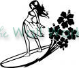 Surfer Girl (1) vinyl decal