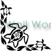 Turtle Flowers (1) vinyl decal