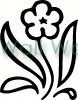 flower (1) vinyl decal
