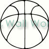 Basketball Outline vinyl decal