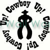 cowboy up vinyl decal