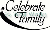 Celebrate Family vinyl decal