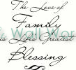 The Love of Family vinyl decal