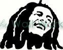 Bob Marley vinyl decal