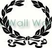 leaf wreath vinyl decal