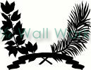 branch wreath vinyl decal
