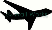 commercial airplane vinyl decal