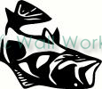 Fish (3) vinyl decal