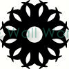 Circle Star vinyl decal