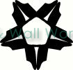 Ninja Star vinyl decal