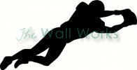 Football Player vinyl decal