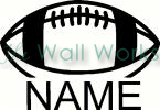 Football with Name vinyl decal