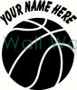 Basketball With Your Name vinyl decal