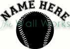 baseball with name vinyl decal