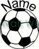 soccer ball with name vinyl decal