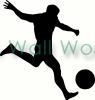 soccer player (2) vinyl decal