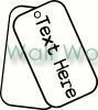 dog tags vinyl decal