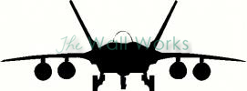 Fighter Jet Front vinyl decal