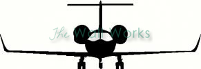 Private Jet Front vinyl decal