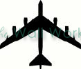 commercial airliner vinyl decal