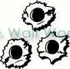 bullet holes vinyl decal
