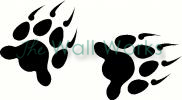 Bear Claws vinyl decal