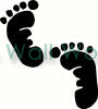 Footprints vinyl decal
