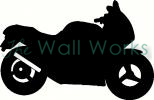 Motorcycle vinyl decal
