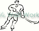 Hockey Player (1) vinyl decal