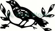 Bird on  Branch vinyl decal