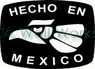 Hecho en Mexico vinyl decal