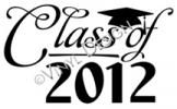 Class of 2012 vinyl decal