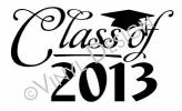 Class of 2013 (1) vinyl decal