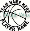 Basketball Team Name vinyl decal